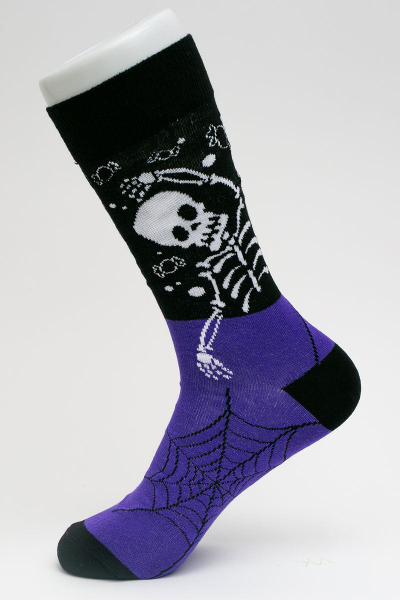 One Pair Large Skeleton Groove Socks