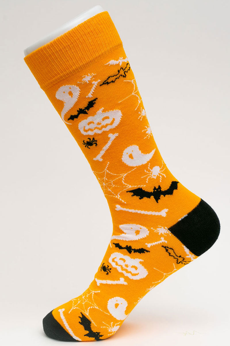 One Pair Large Ghosts And Goblins Socks