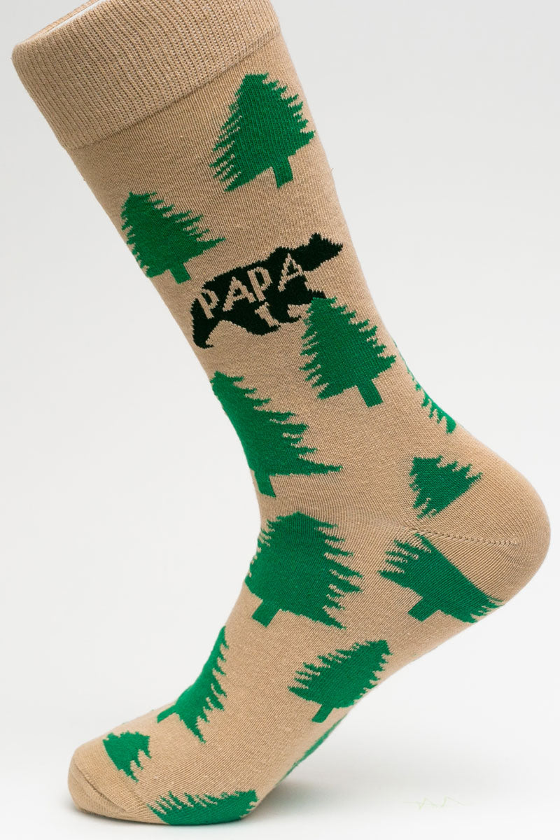 One Pair Large Papa Bear Socks