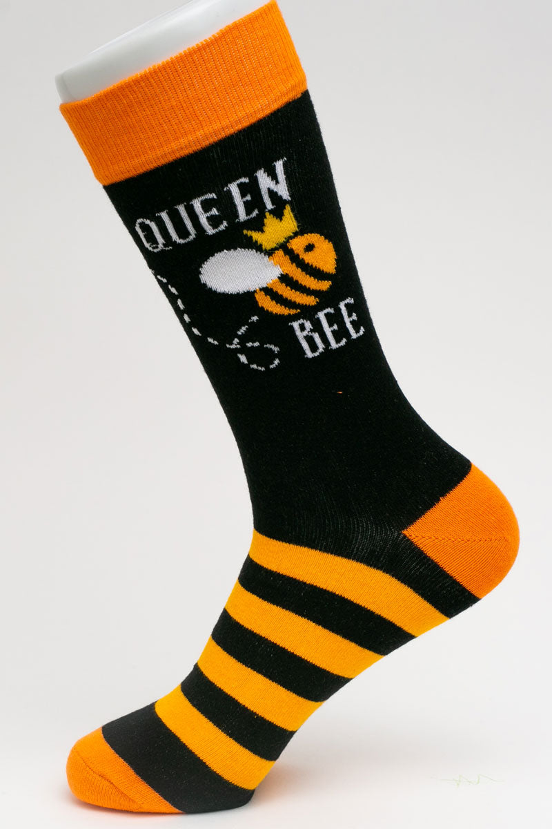 One Pair Small Queen Bee Socks
