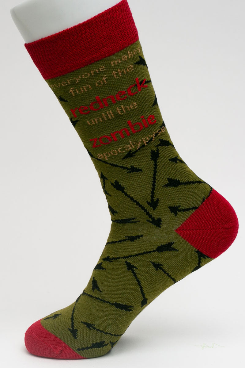 One Pair Large Zombie Apocalypse Socks