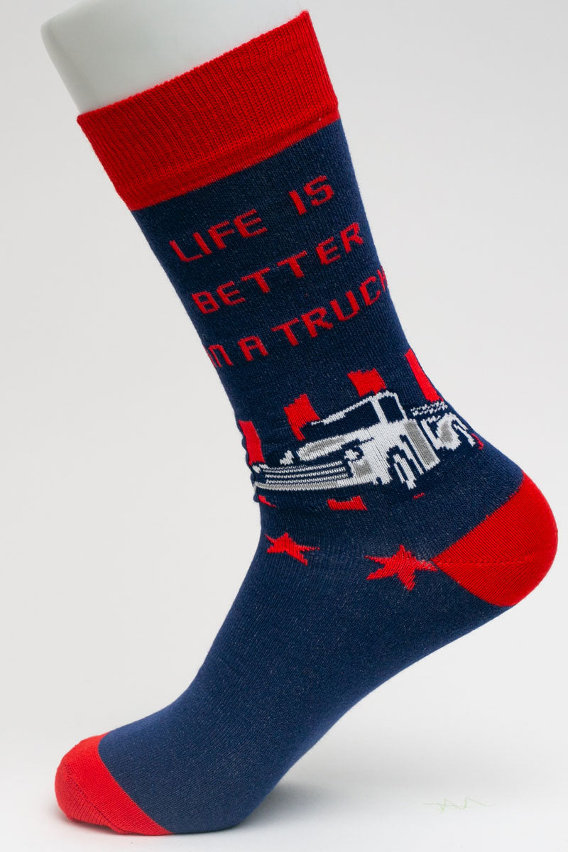 One Pair Large Life Is Better In A Truck Socks