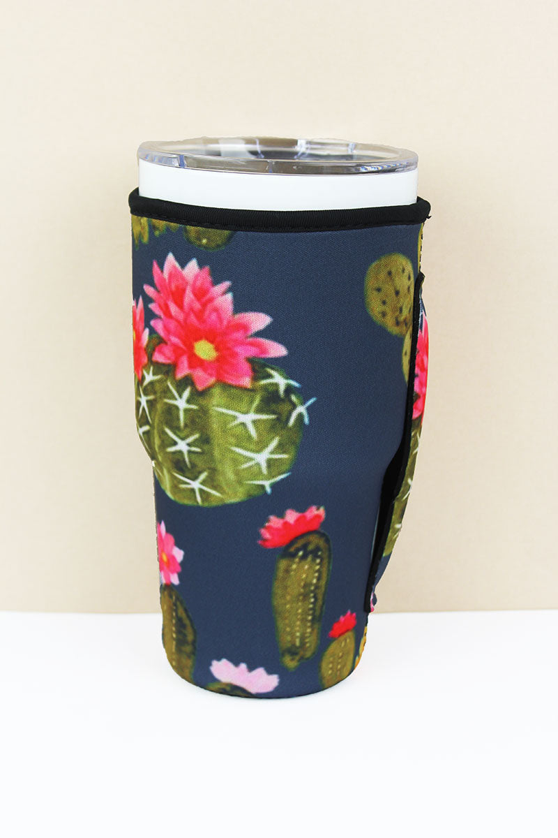 Flowering Cactus Tumbler Drink Sleeve