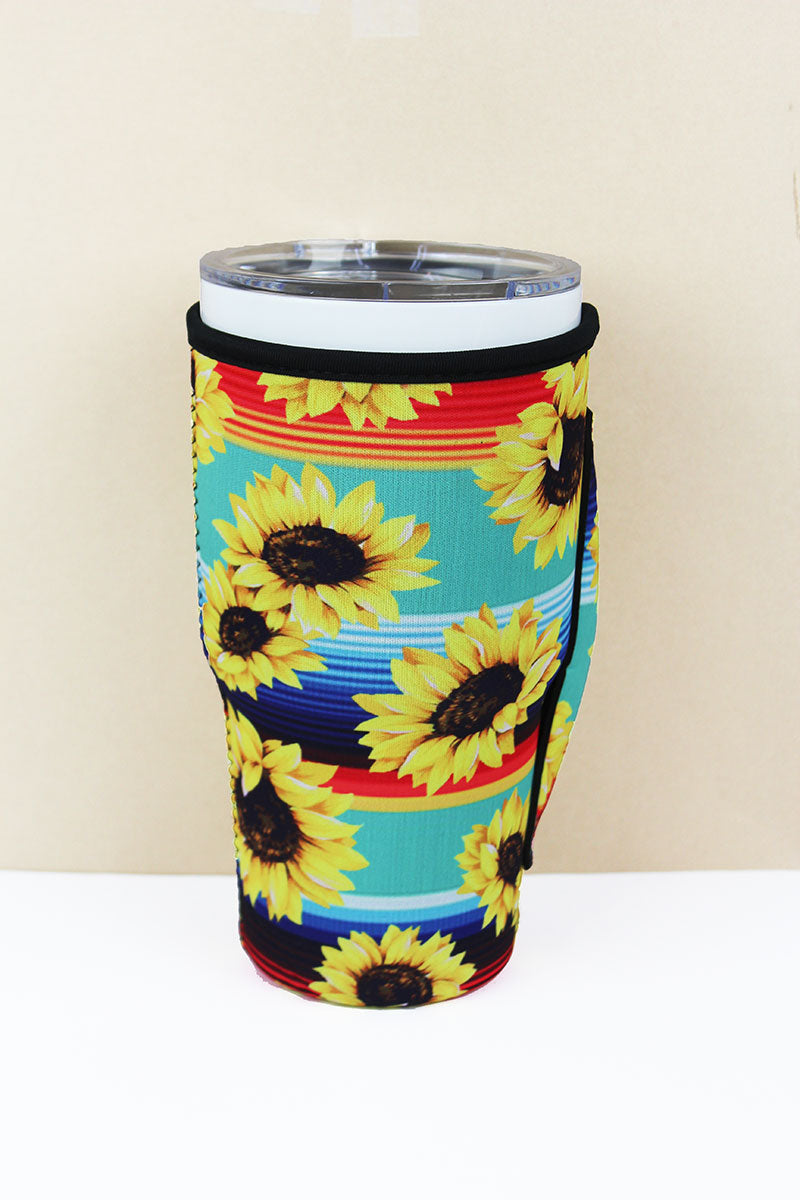 Sunflower Mint Serape Tumbler Drink Sleeve