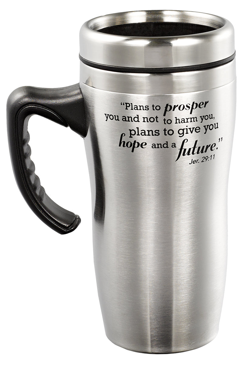 Jeremiah 29:11 'I Know the Plans' Stainless Steel Travel Mug