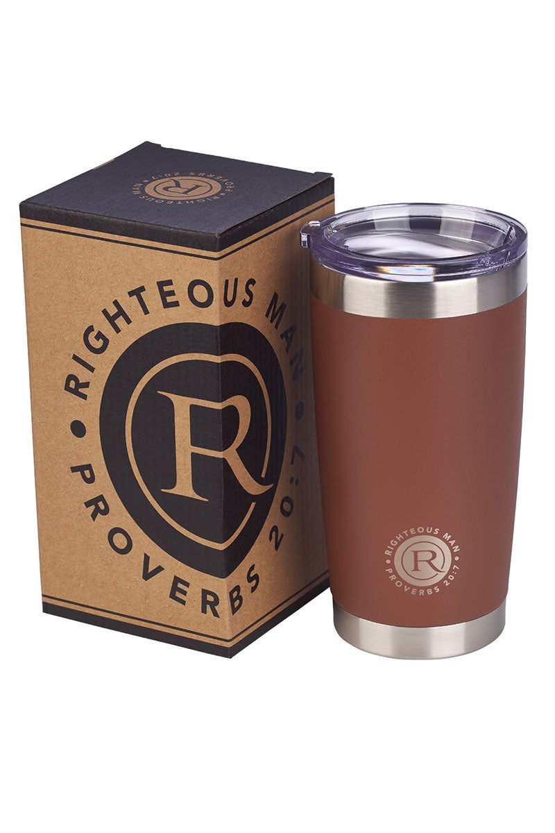 Proverbs 20:7 'Righteous Man' Stainless Steel Travel Mug