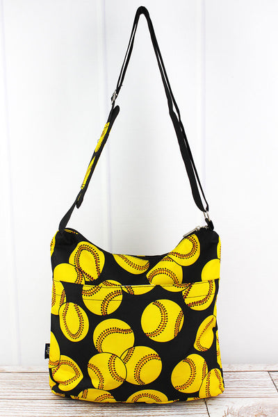NGIL Softball Multi-Pocket Crossbody Tote