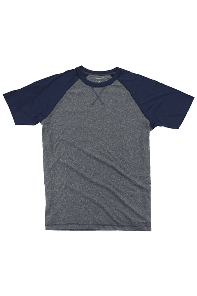 Boxercraft Navy and Granite Double Play Tee