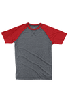 Boxercraft Red and Granite Double Play Tee