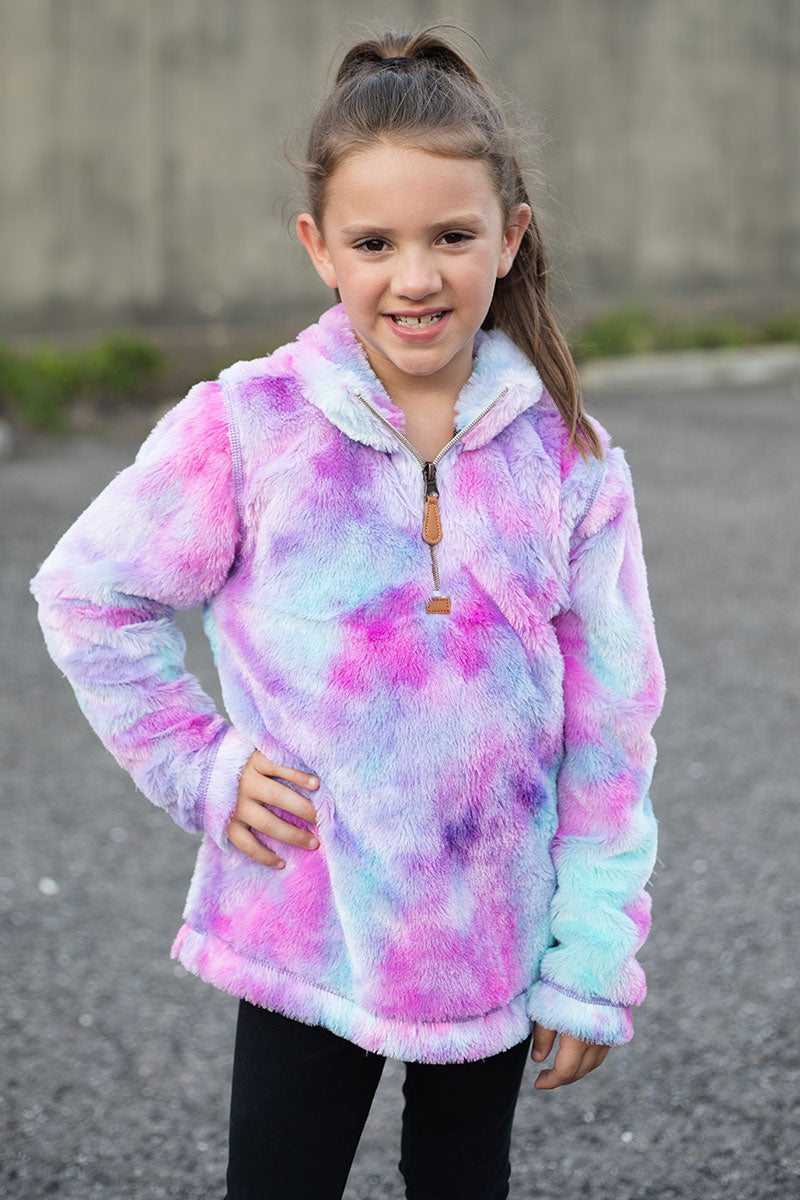 PRE-ORDER* Kid's Purple Tie Dye Cuddle Fleece **EXPECTED SHIP DATE 8/30**