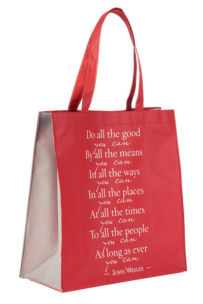 Do All The Good You Can Red Tote Bag