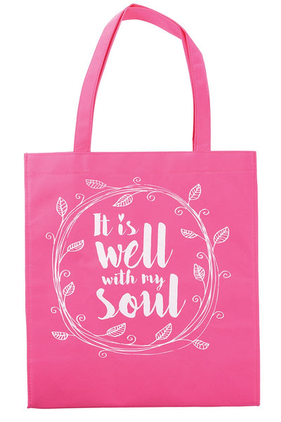 It Is Well With My Soul Pink Tote Bag