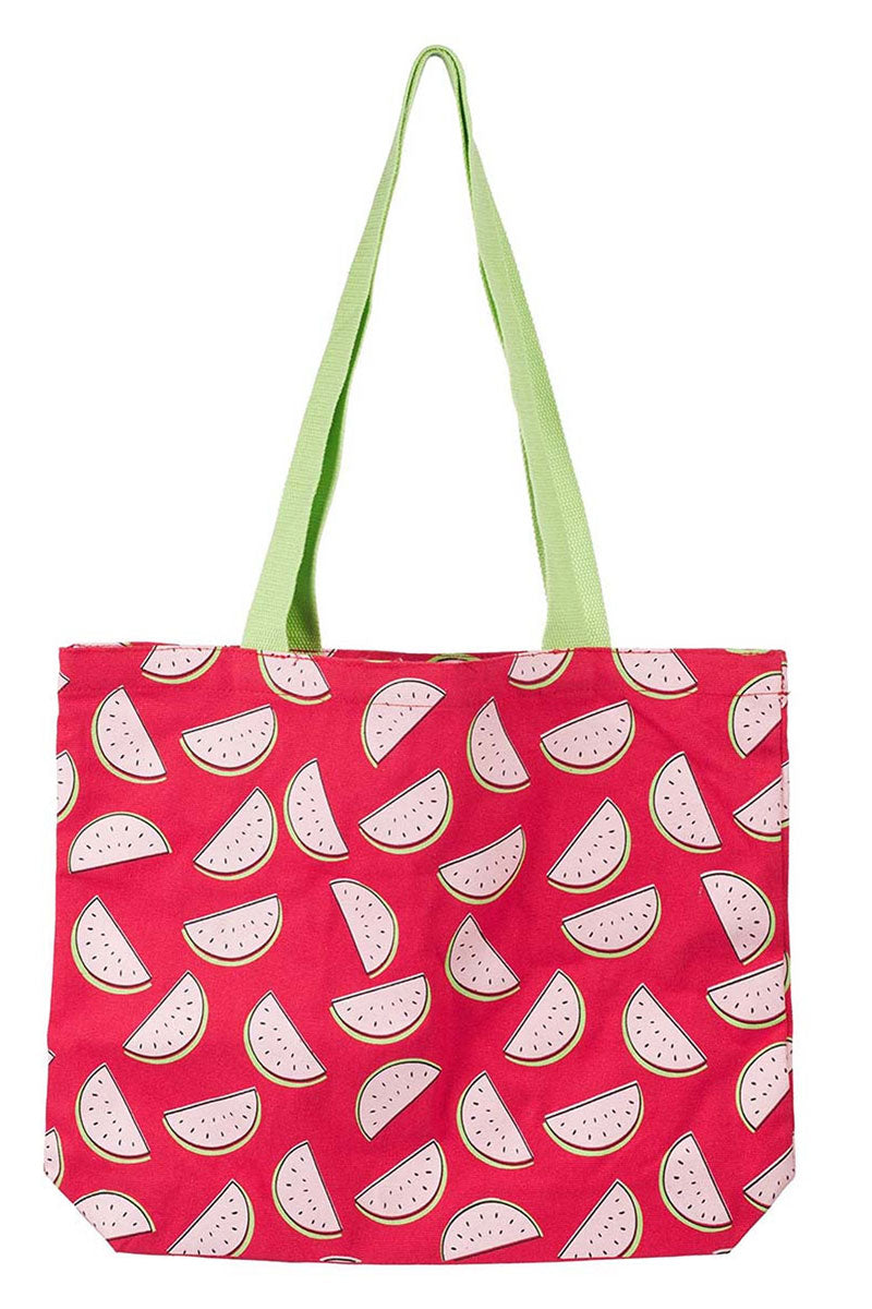 Tis So Sweet Watermelon Canvas Tote Bag