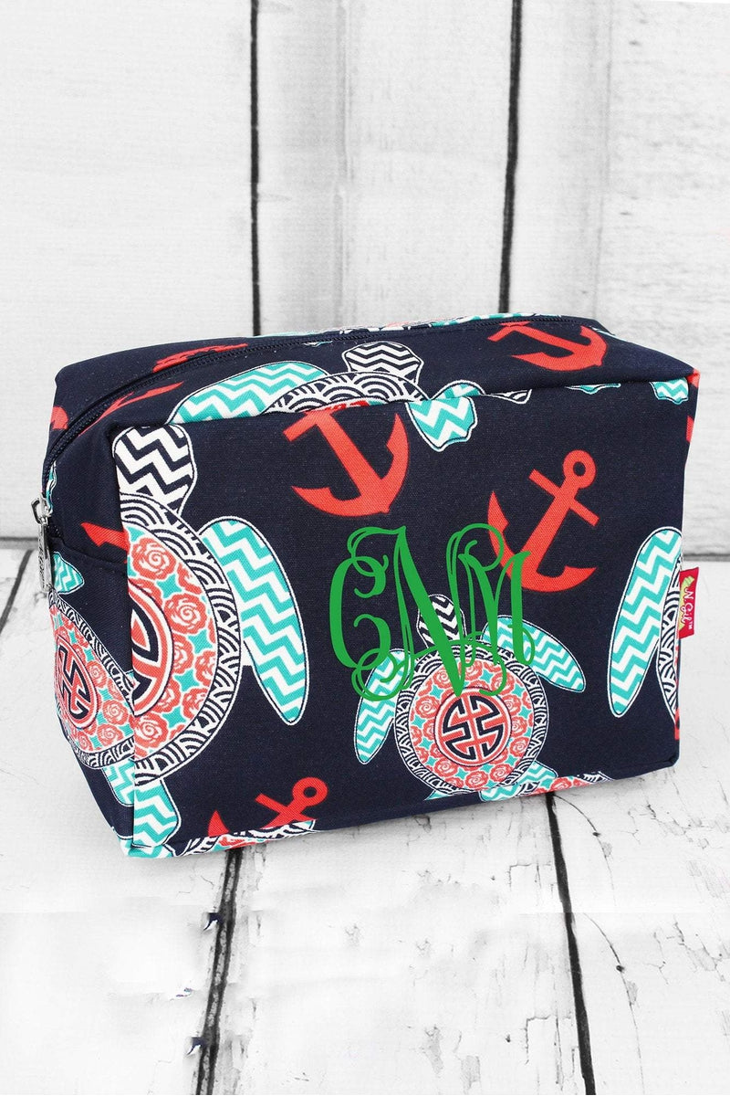Preppy Under the Sea Cosmetic Case #TUL613-NAVY