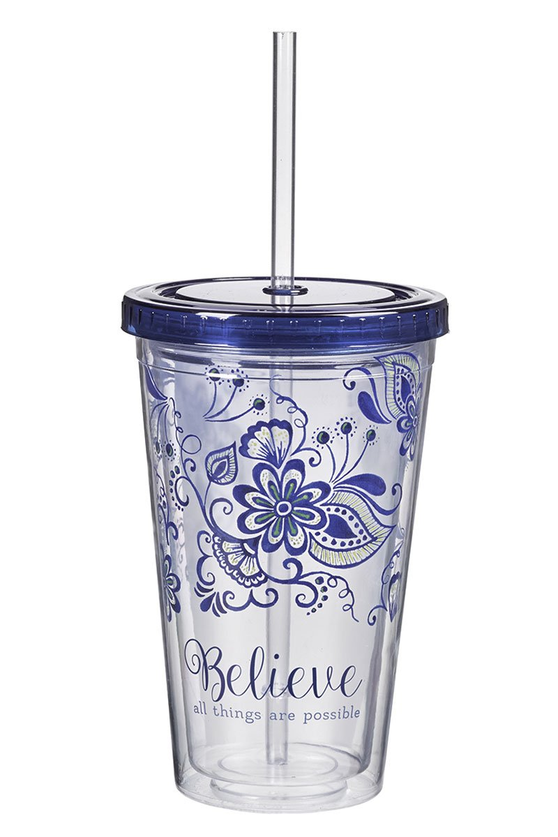 Believe All Things Are Possible 16 oz Double Wall Tumbler