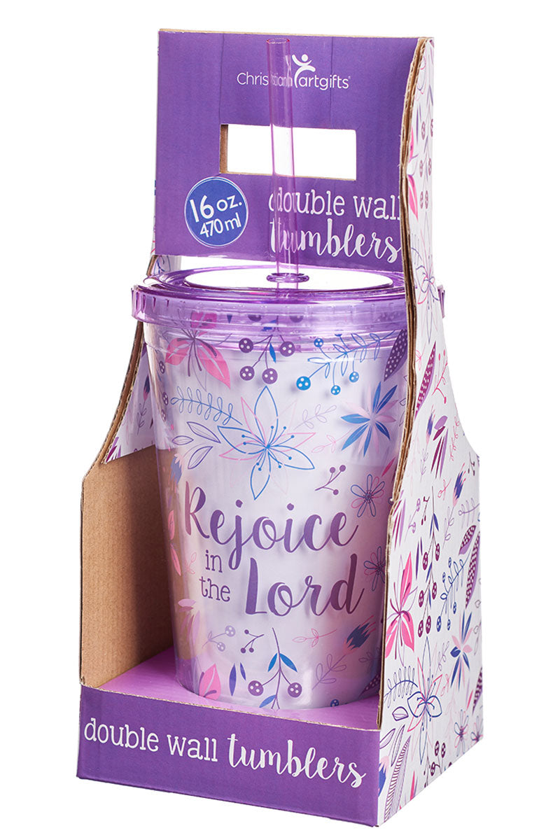 Rejoice in the Lord 16 oz Double Wall Tumbler