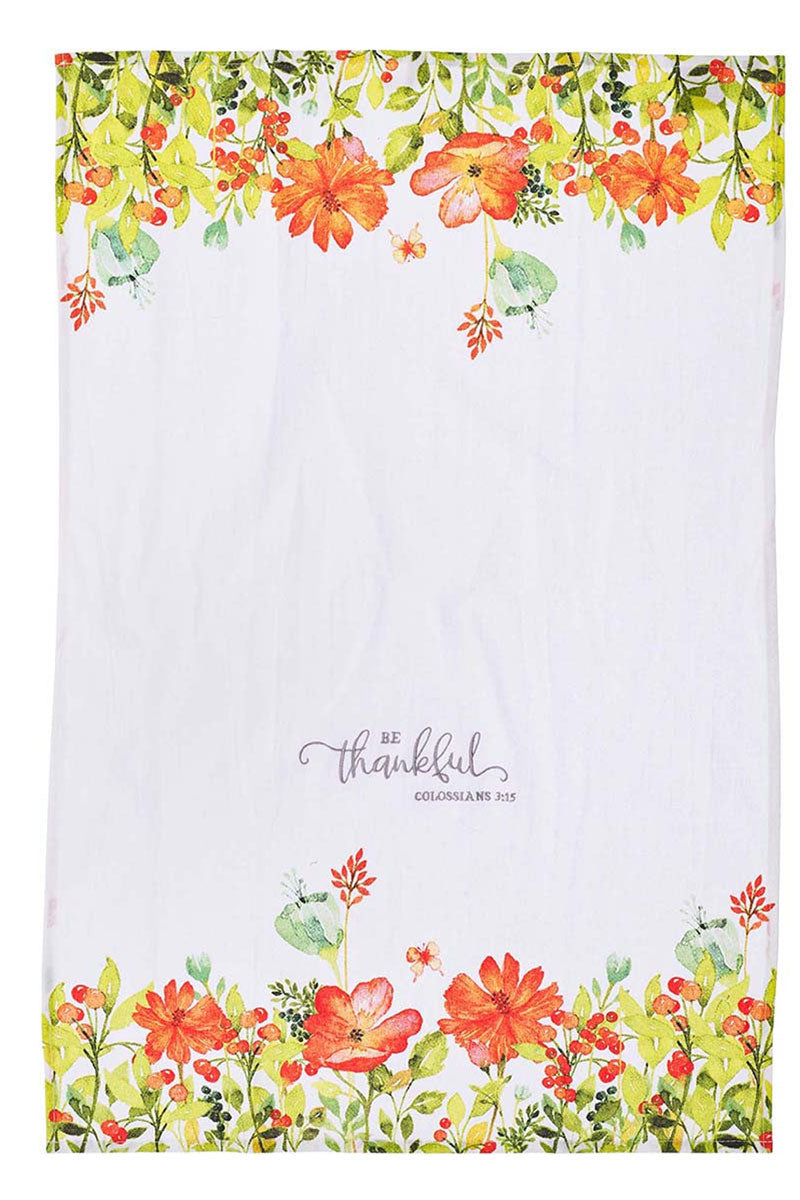 Colossians 3:15 'Be Thankful' Tea Towel