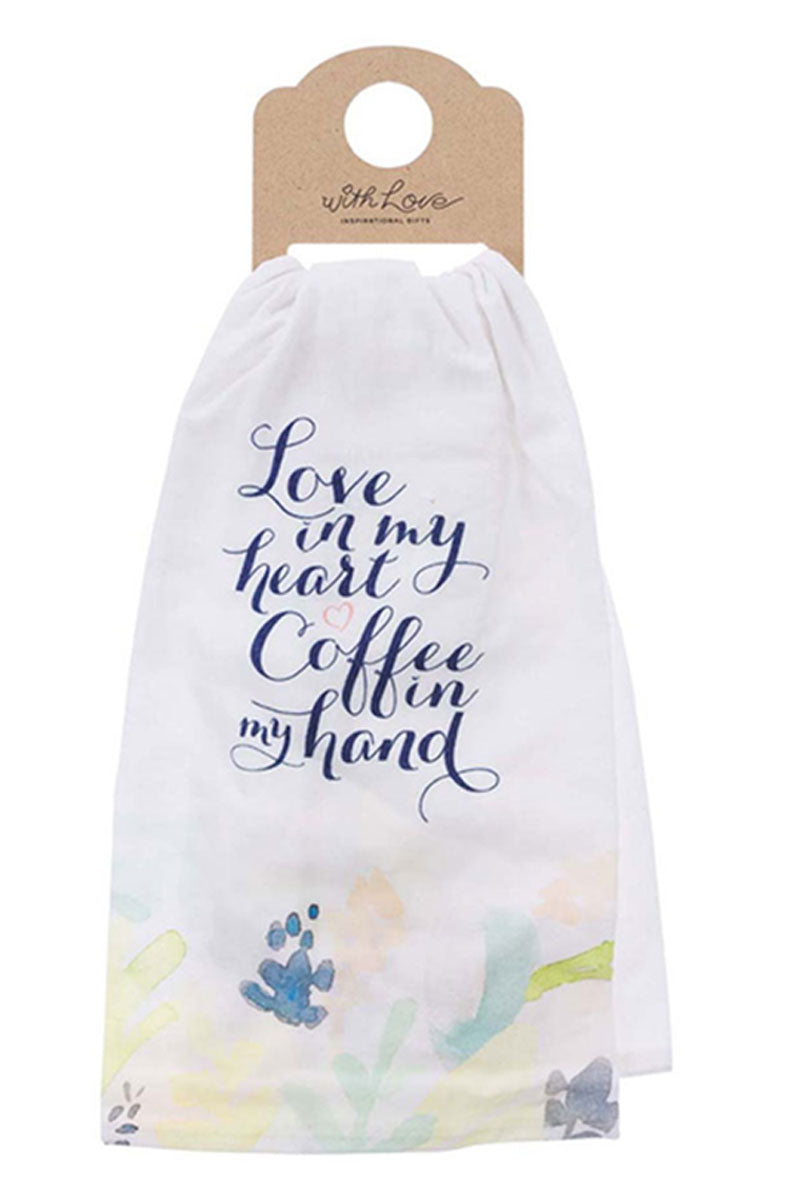 Love In My Heart Tea Towel