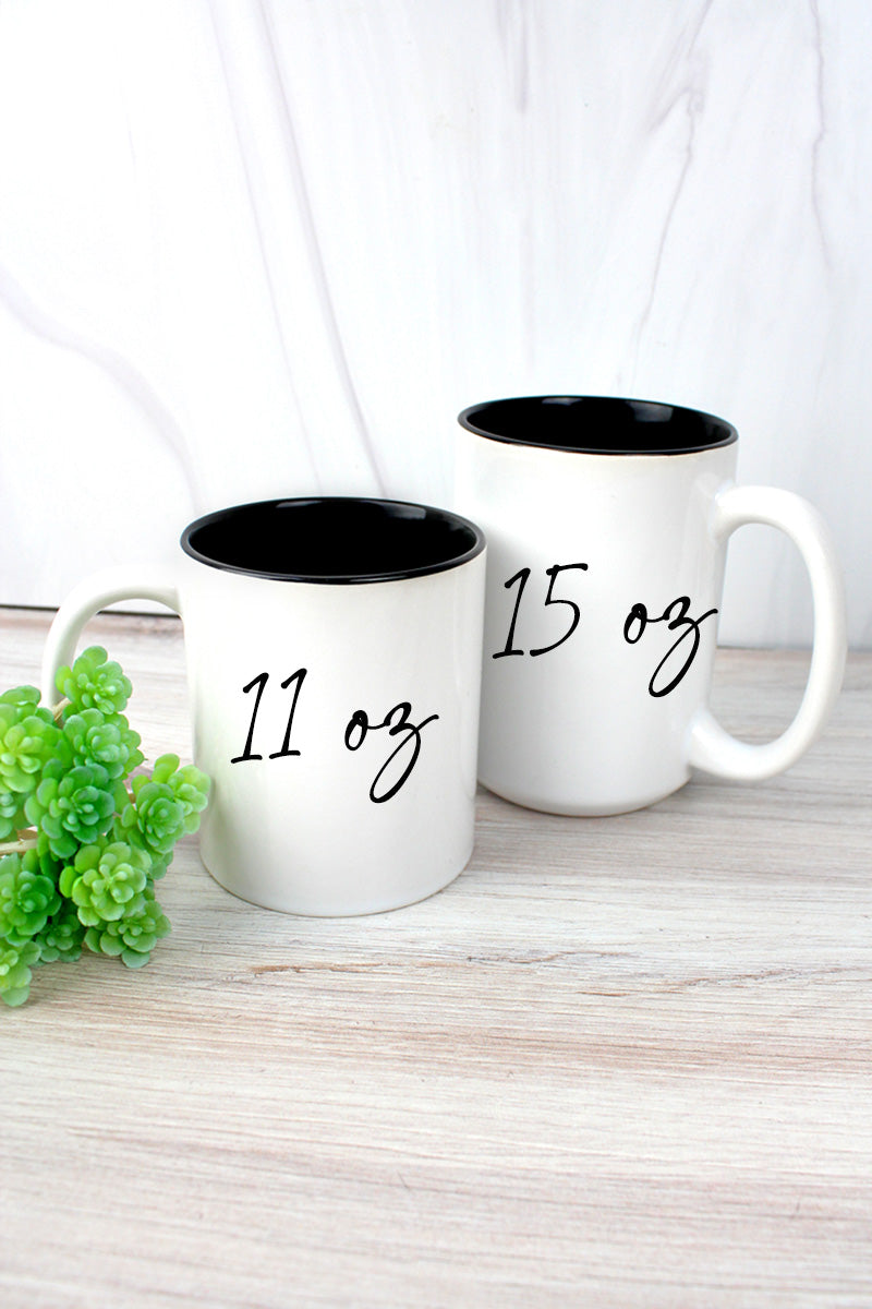 She Is Strong Two-Tone Mug