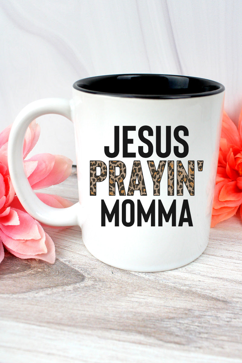 Jesus Prayin' Mama Two-Tone Mug