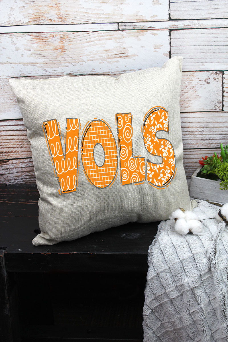 VOLS Doodle Decorative Pillow Cover