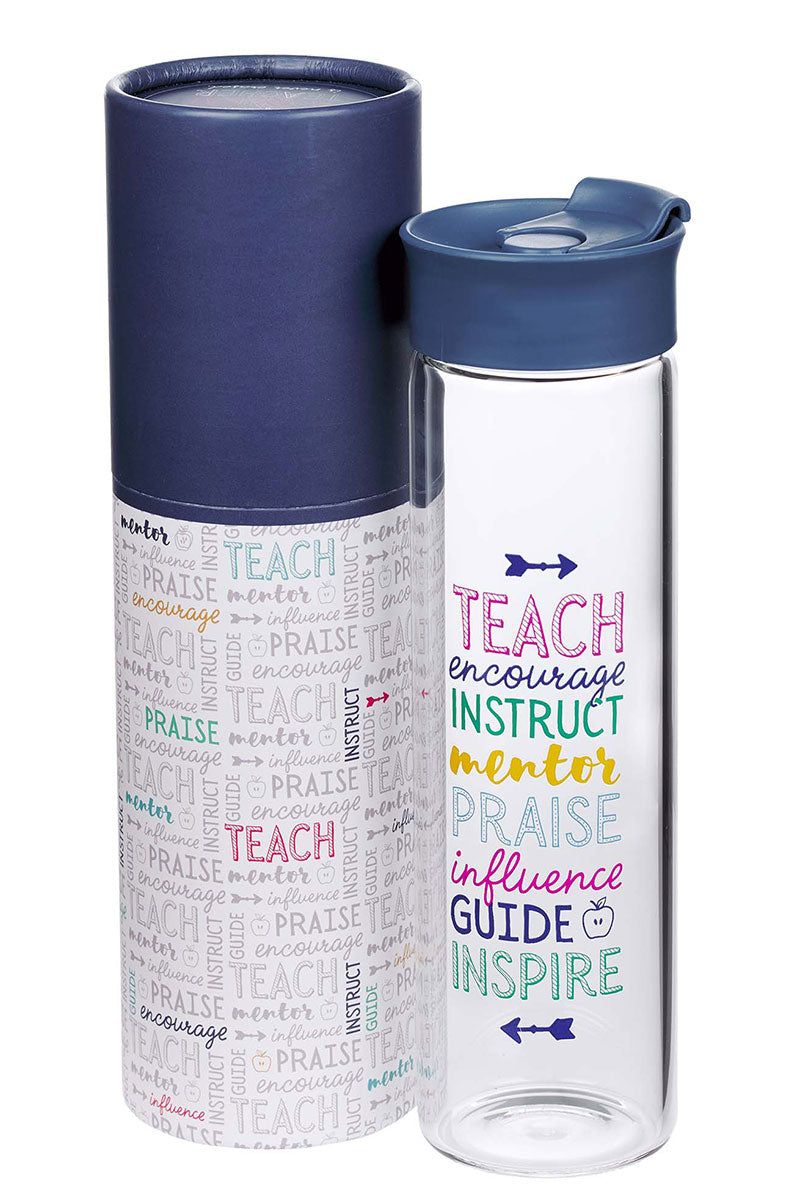 A Great Teacher Glass Water Bottle