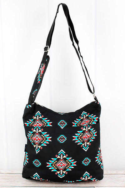NGIL Desert Diamond Multi-Pocket Crossbody Tote