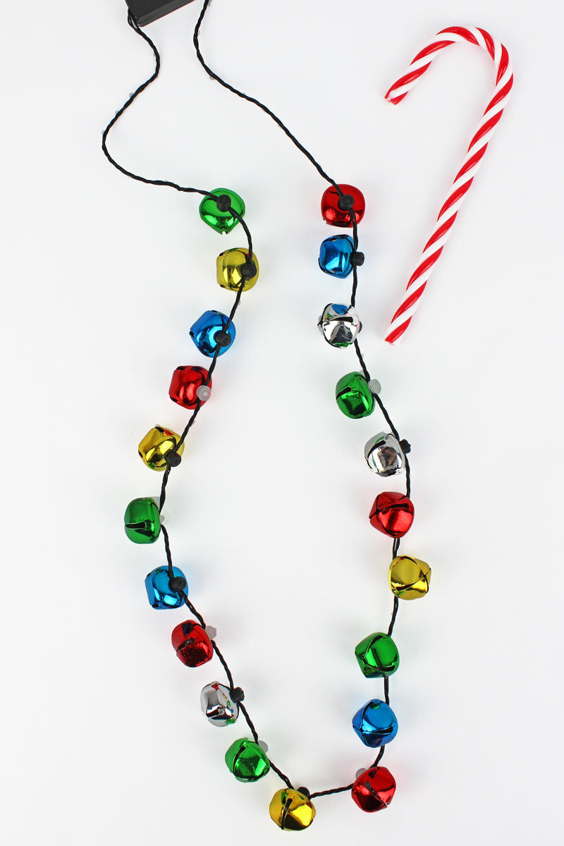 Flashing Jingle Bell Necklace