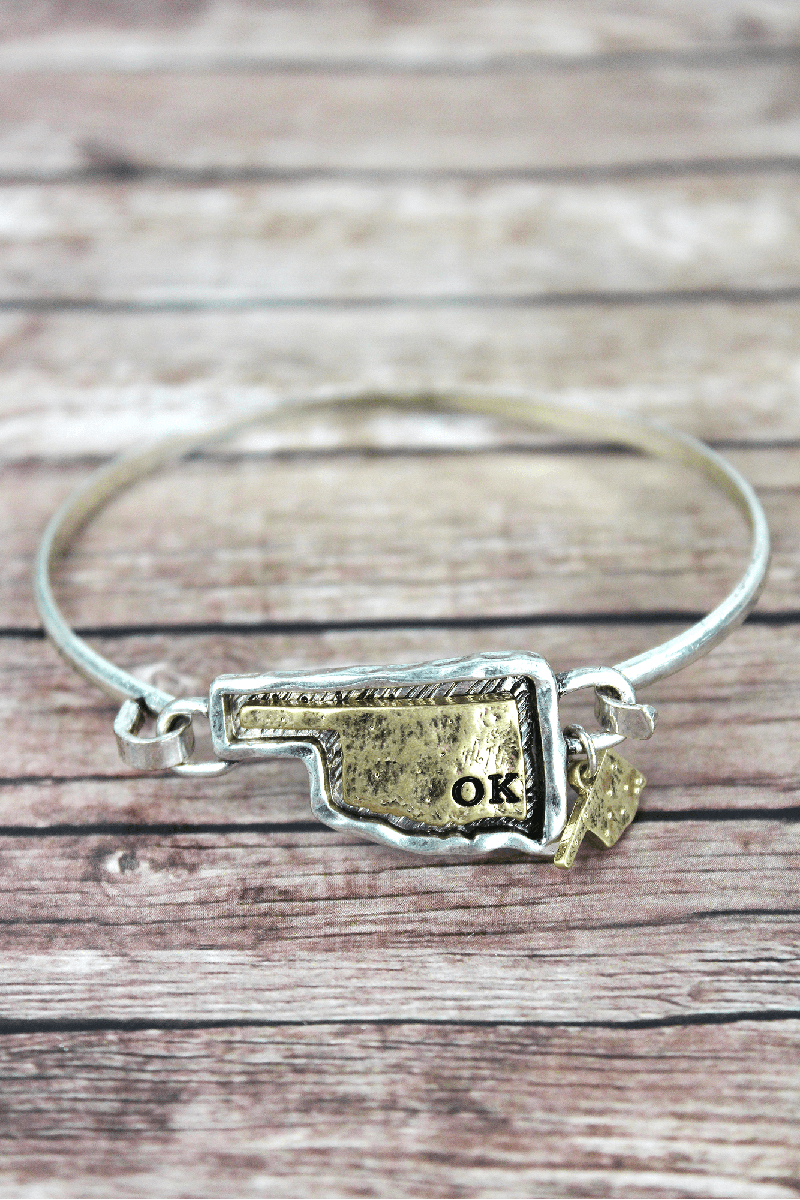 Hammered Two-Tone Oklahoma Bracelet
