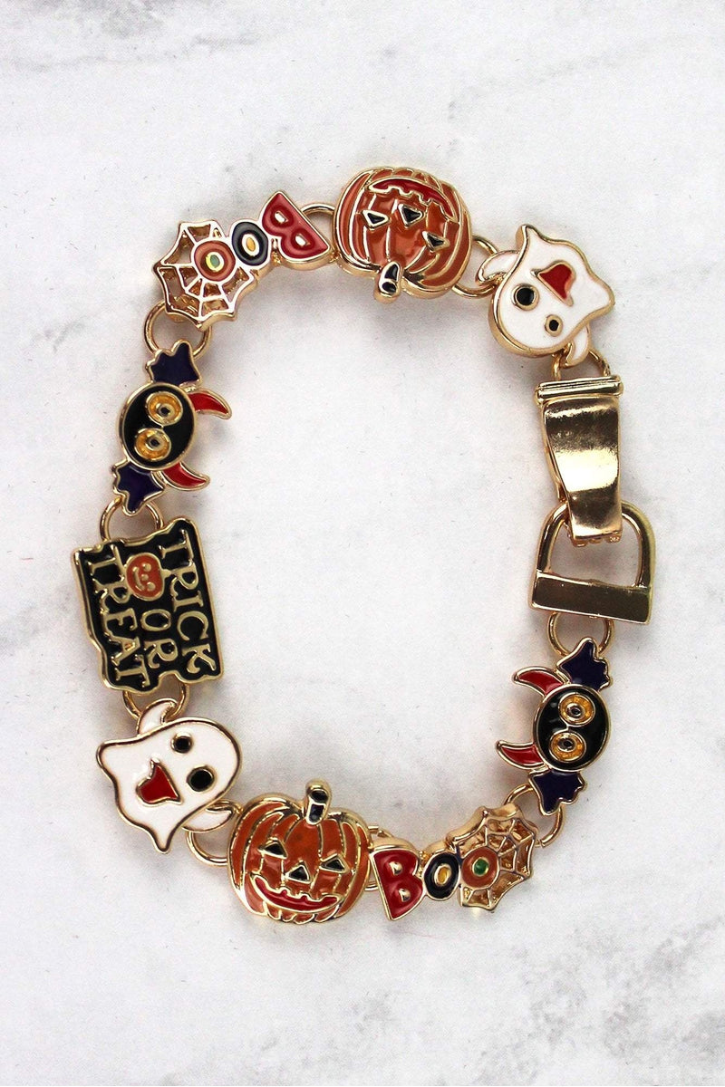 Halloween Themed Goldtone Magnetic Bracelet
