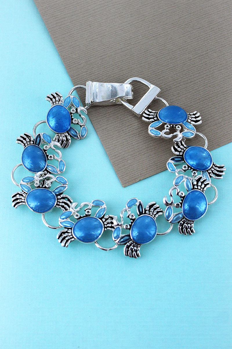 Blue Crab Magnetic Bracelet