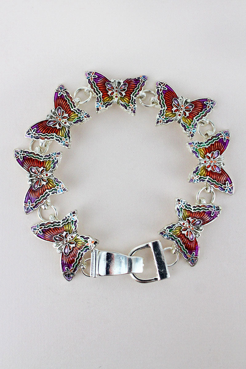 Rainbow Butterfly Magnetic Bracelet