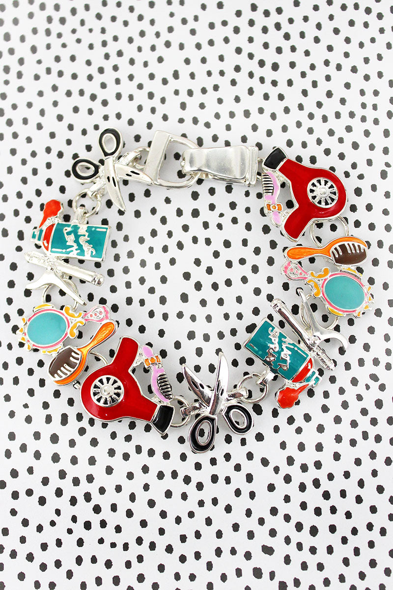 Colorful Hairdresser Magnetic Bracelet