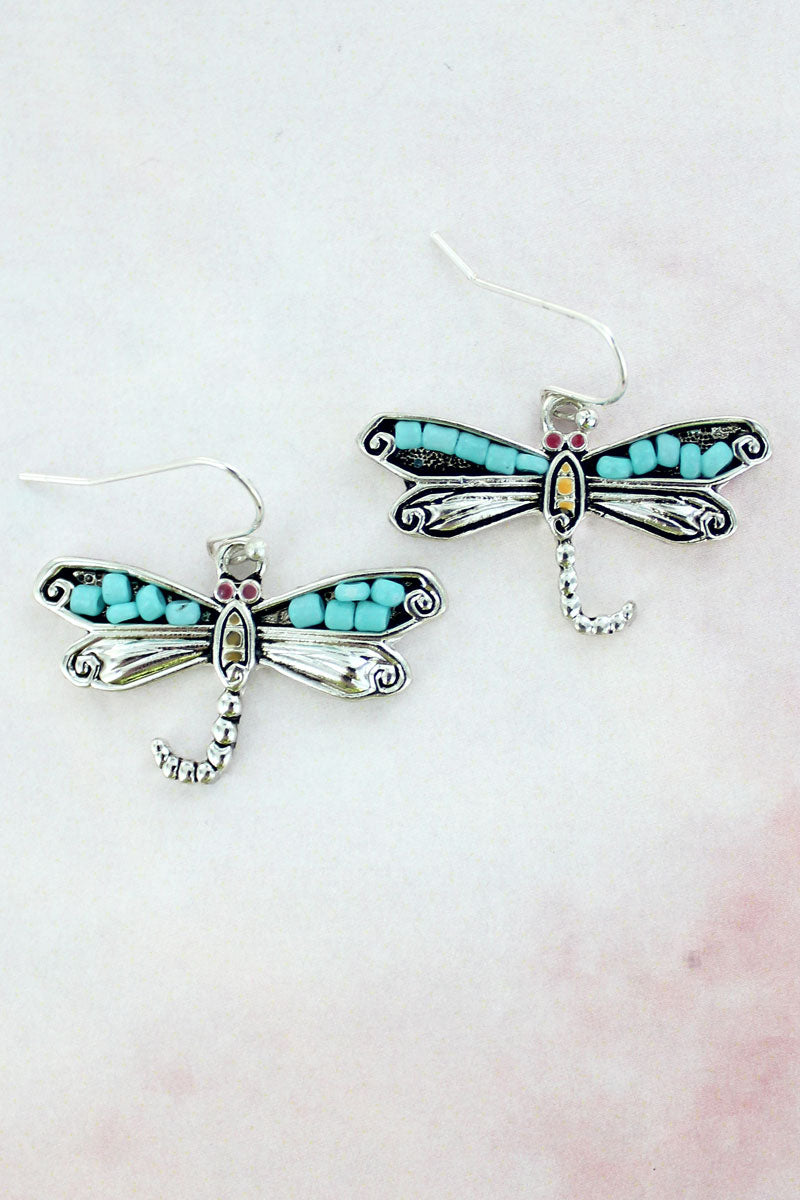 Mosaic Art Dragonfly Earrings