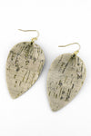Ivory Cork Petal Earrings