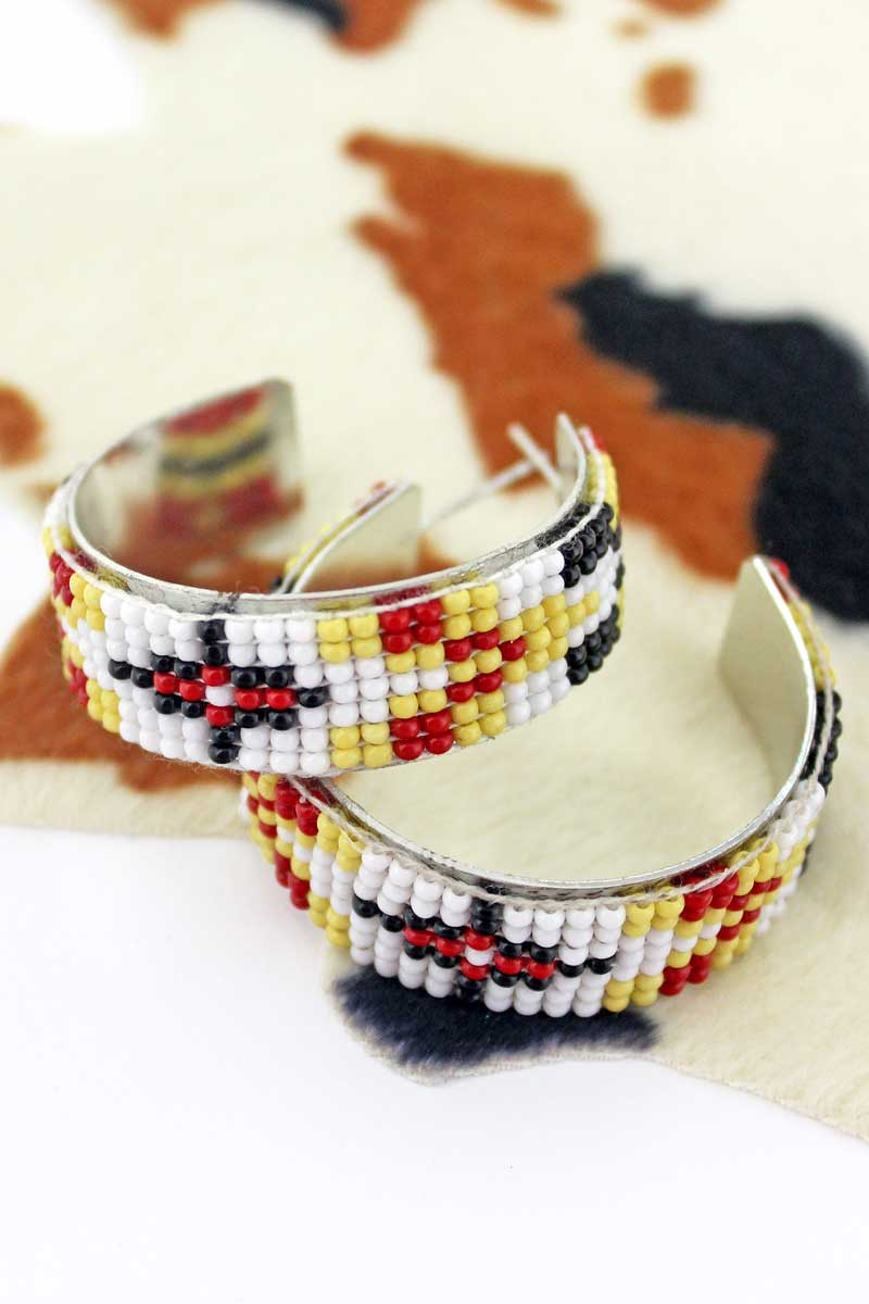 Rimrock Sun Seed Bead Hoop Earrings