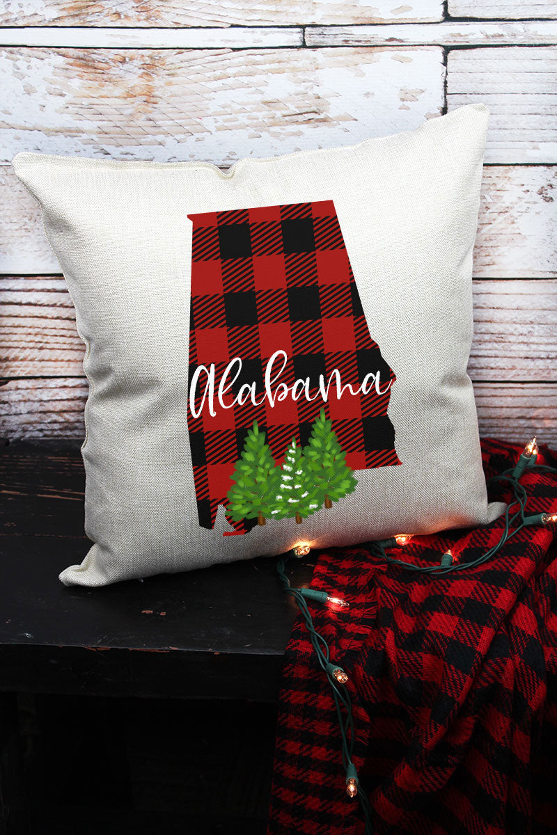 Plaid Alabama Decorative Pillow Cover