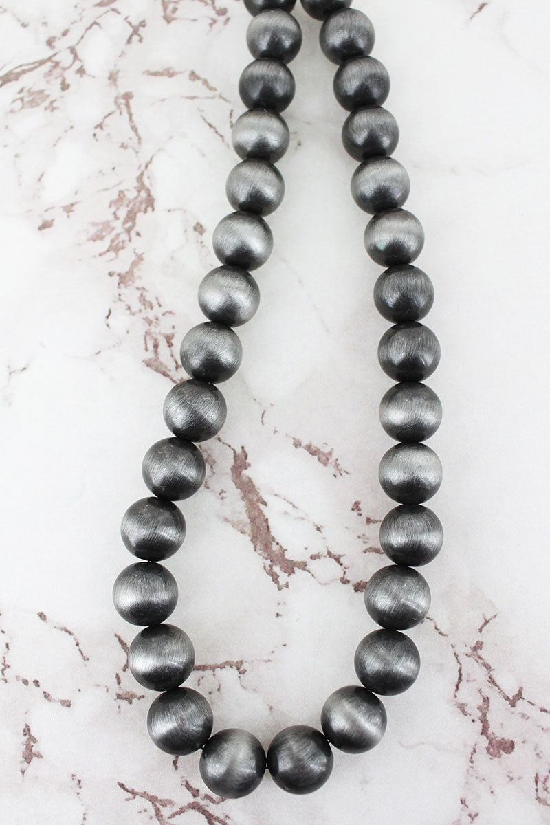 Silver Navajo Pearl 14mm Necklace