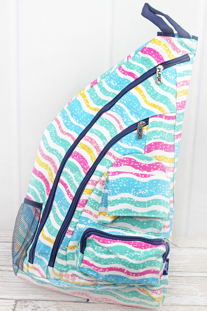 NGIL Fruit Stripes Sling Backpack