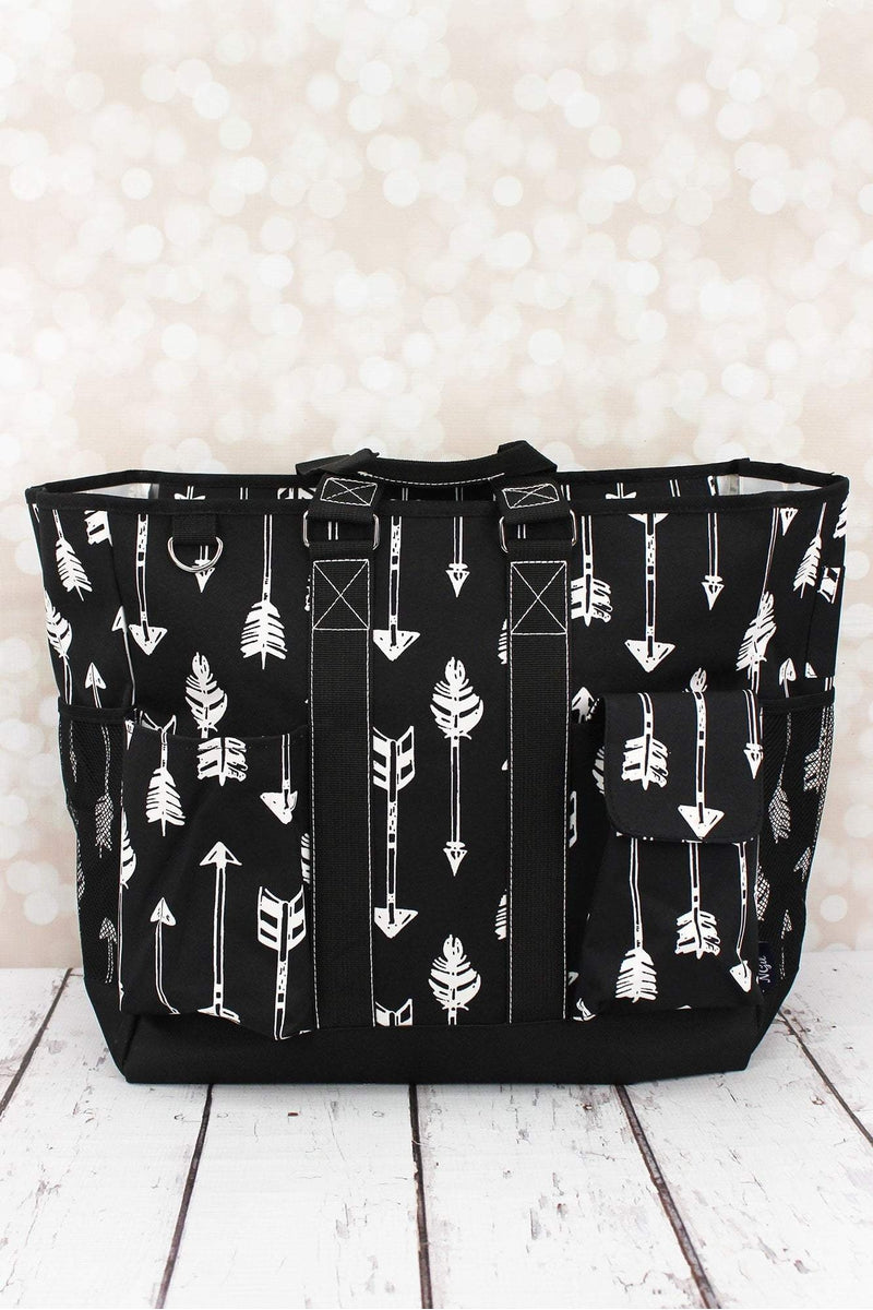 Straight & Arrow Black Everyday Organizer Tote