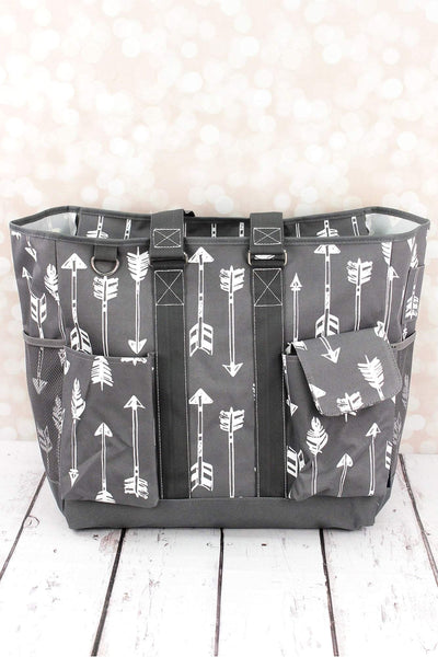 NGIL Straight & Arrow Gray Everyday Organizer Tote