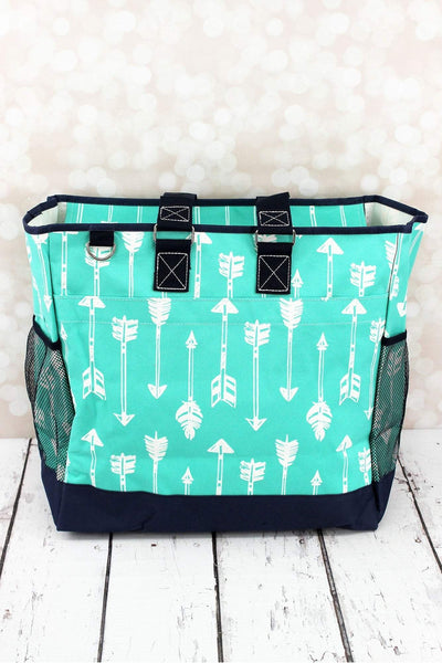 NGIL Straight & Arrow Mint Everyday Organizer Tote