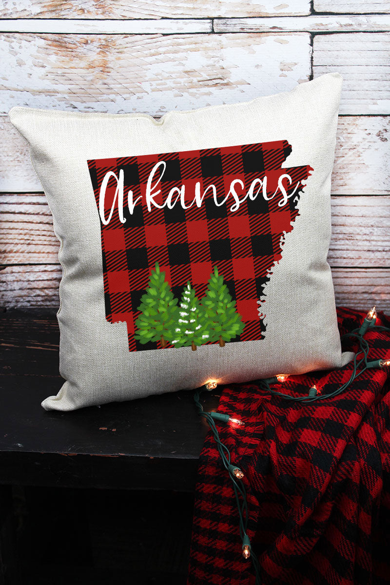 Plaid Arkansas Decorative Pillow Cover