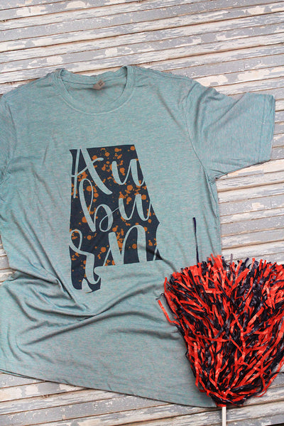 Auburn Splatter Poly/Cotton Tee