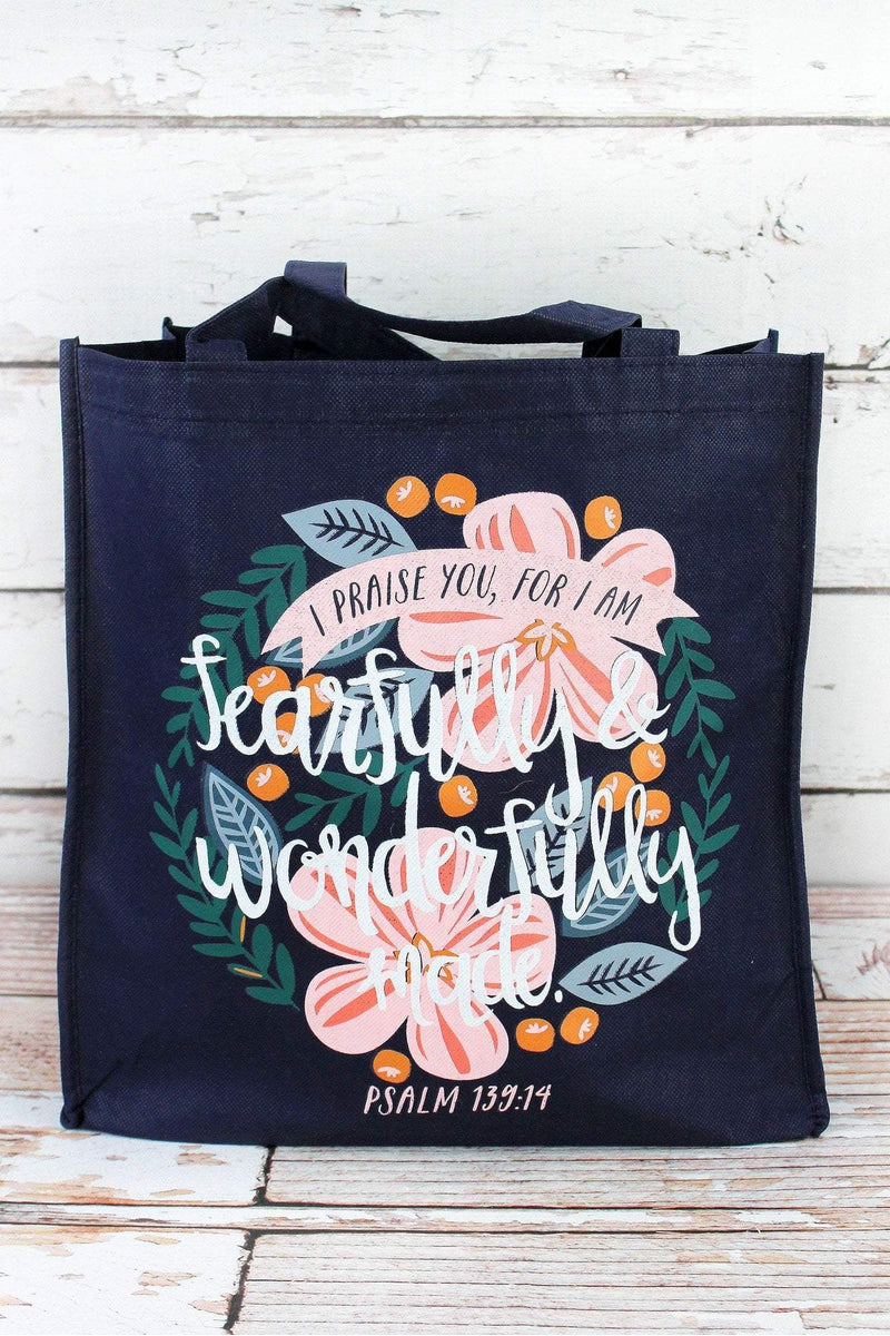 Psalm 139:14 'Wonderfully Made' Tote Bag