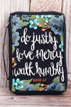 Micah 6:8 'Justly, Mercy, Humbly' Bible Cover