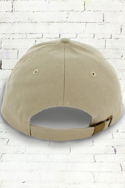 Khaki and Tan Suede Bill Cap
