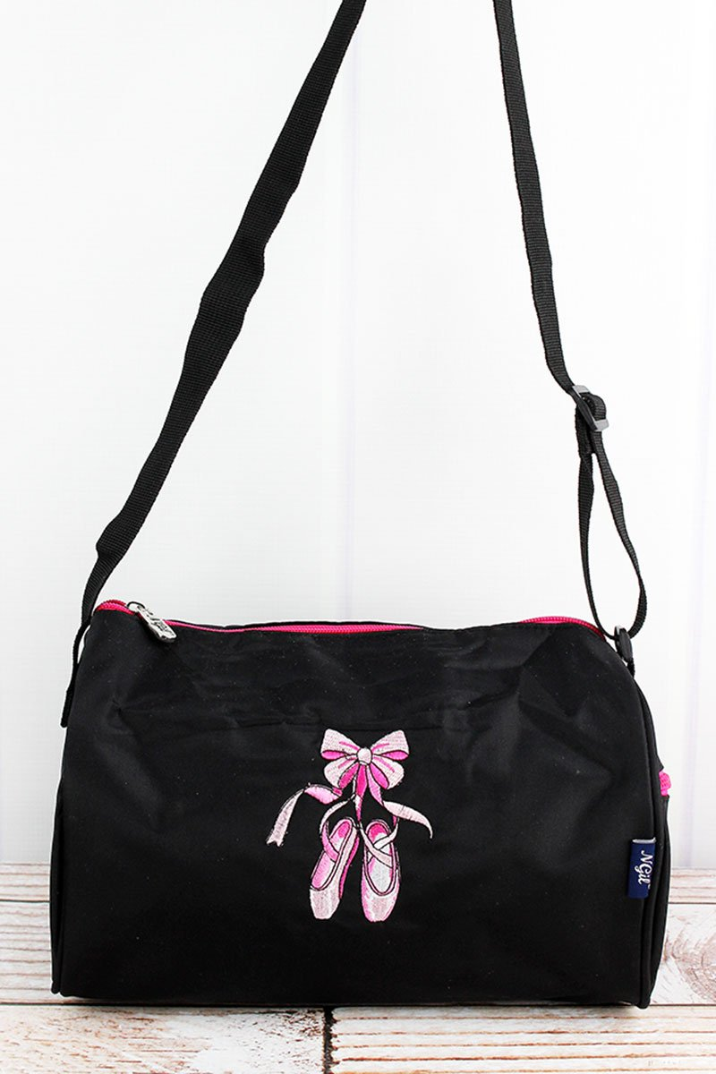 NGIL Black Ballerina Slippers Mini Duffle Bag