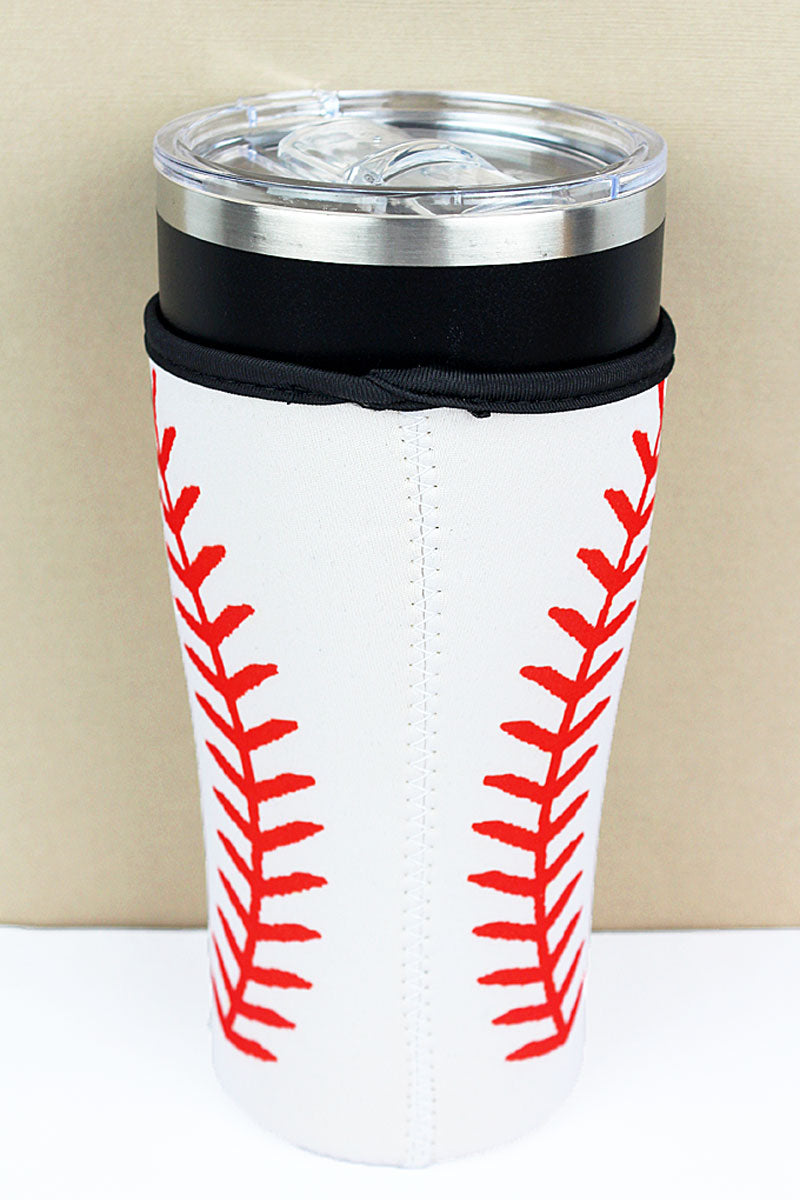 Baseball Tumbler Drink Sleeve