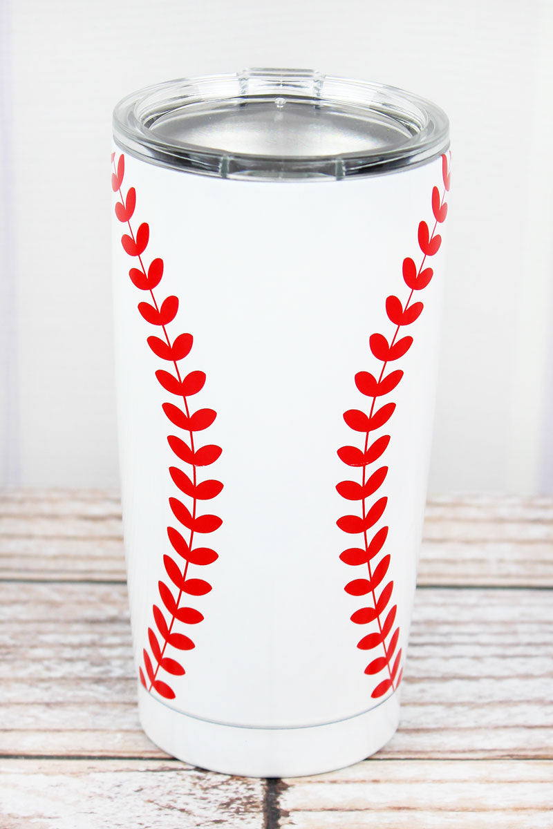 Baseball 20 oz Stainless Steel Travel Mug